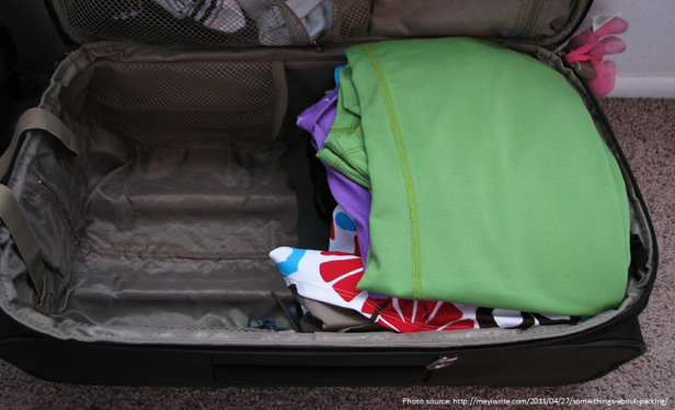 Travel Hacks - Save Space in Luggage